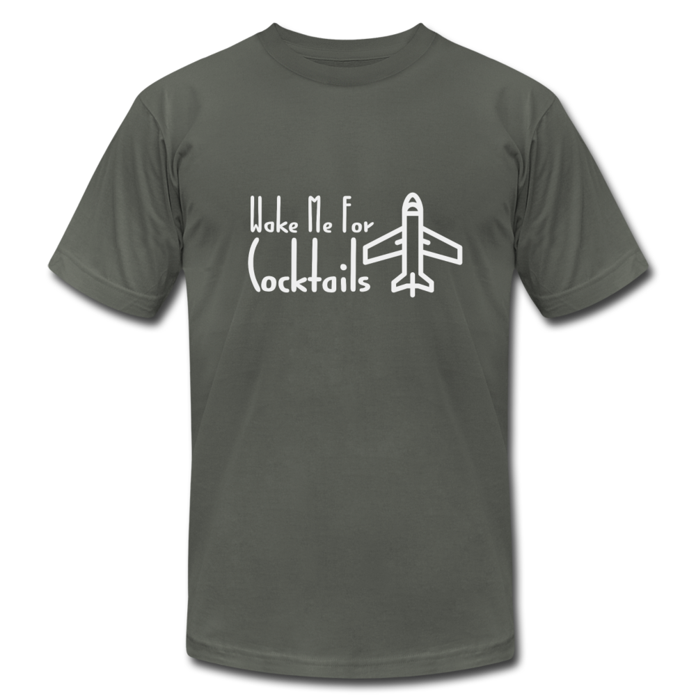 Wake Me For Cocktails Airline Tee - BravoPapa Clothing