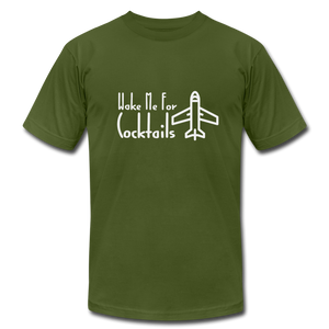 Wake Me For Cocktails Airline T-shirt - BravoPapa Clothing