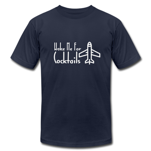 Wake Me For Cocktails Airline Tee - navy