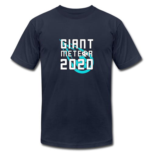 Giant Meteor Political Satire Shirt - navy