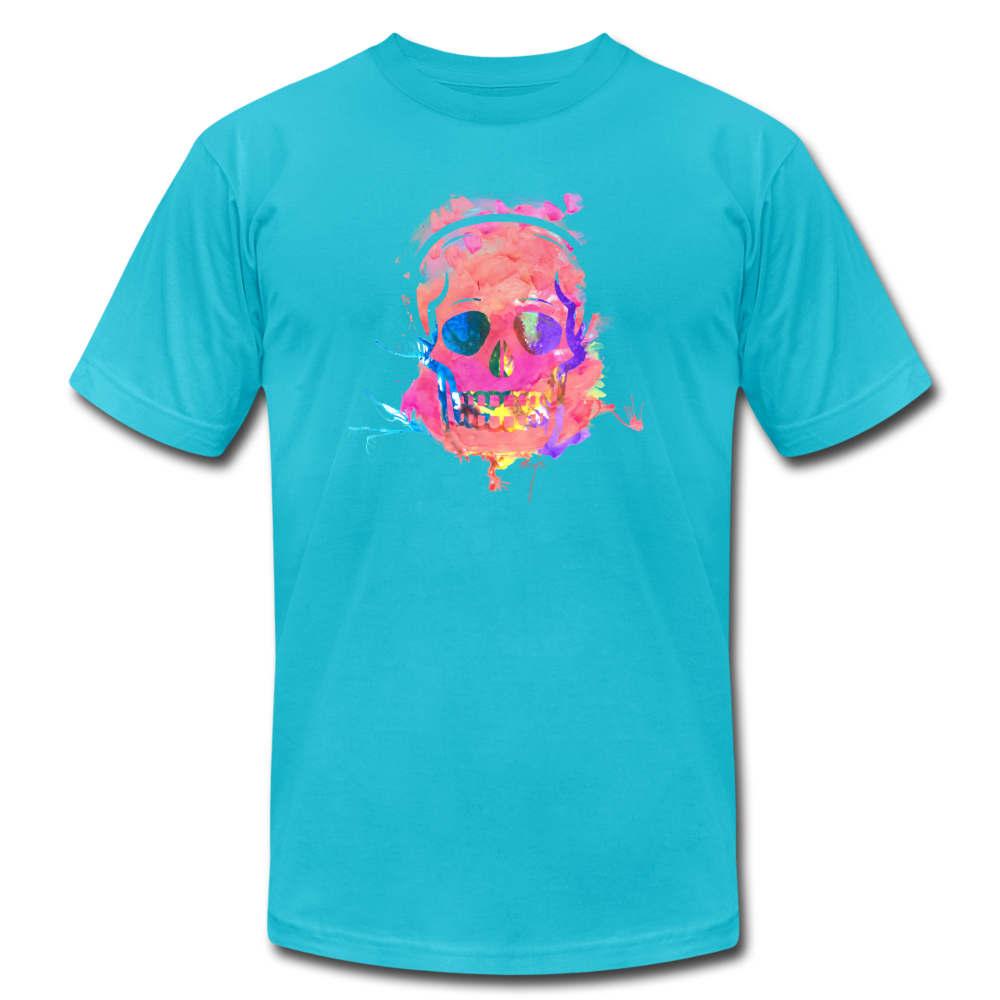 Beautiful Death (watercolor skull) Unisex Jersey T-Shirt by Bella + Canvas - BravoPapa Clothing