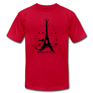 My Heart Lives In Paris T-Shirt - BravoPapa Clothing