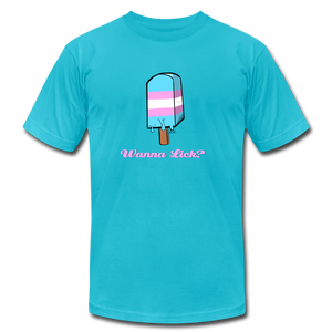 Wanna Lick Trans Pride Popsicle T-Shirt - BravoPapa Clothing