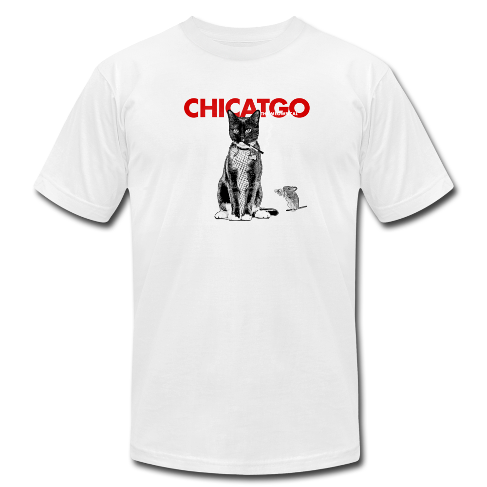 Chicatgo (Chicago Musical Parody) Cat T-Shirt - BravoPapa Clothing