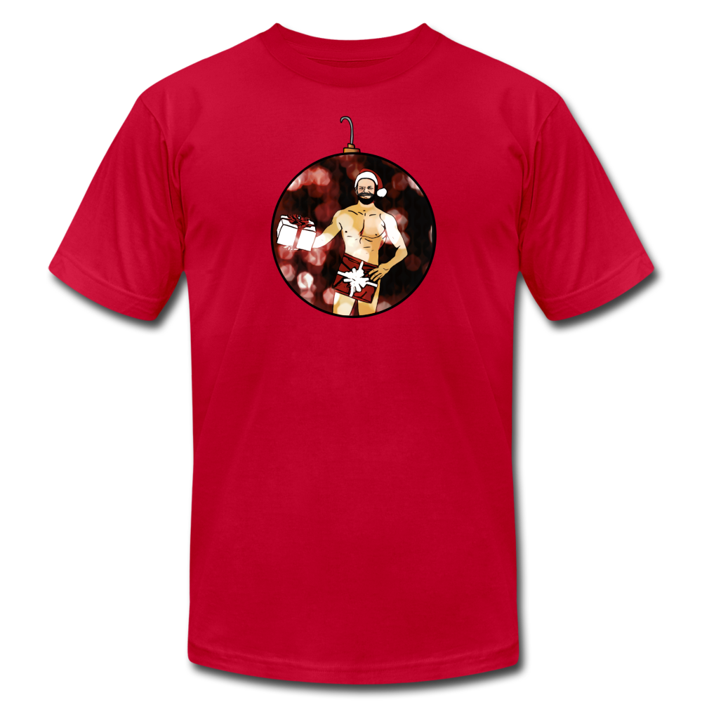 Naked Santa Ornament Gay Christmas T-Shirt - BravoPapa Clothing