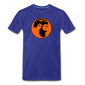 Crying Man Art T-Shirt - royal blue