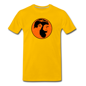 Crying Man Art T-Shirt - sun yellow