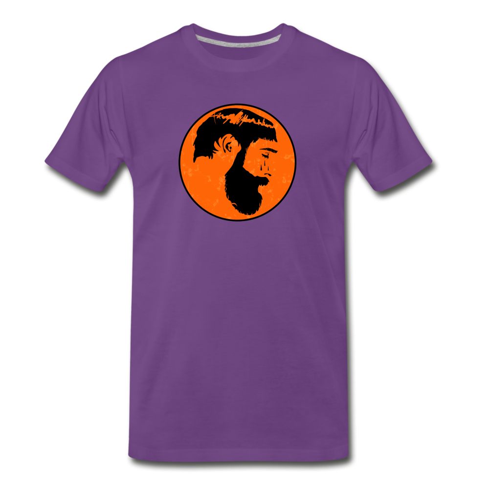 Crying Man Art T-Shirt - purple