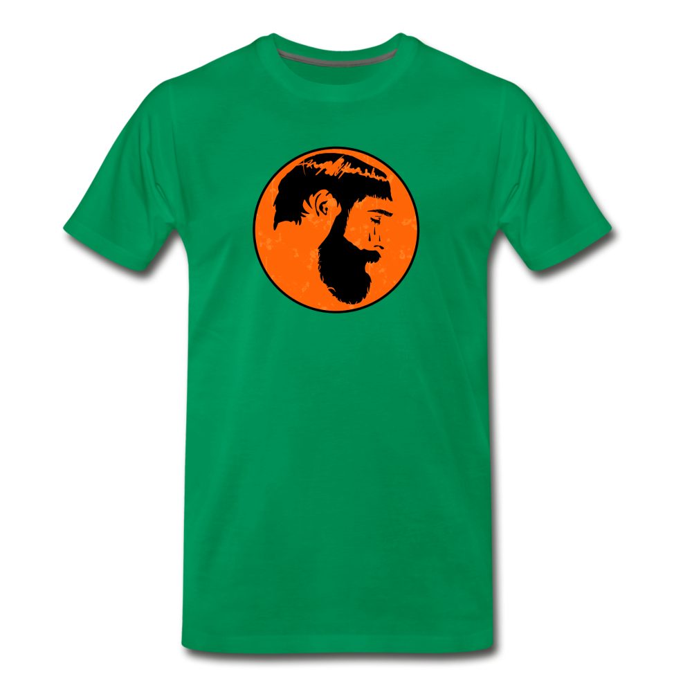 Crying Man Art T-Shirt - kelly green