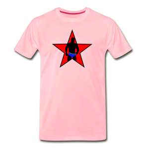 Muscle Man In Briefs Star T-Shirt - pink