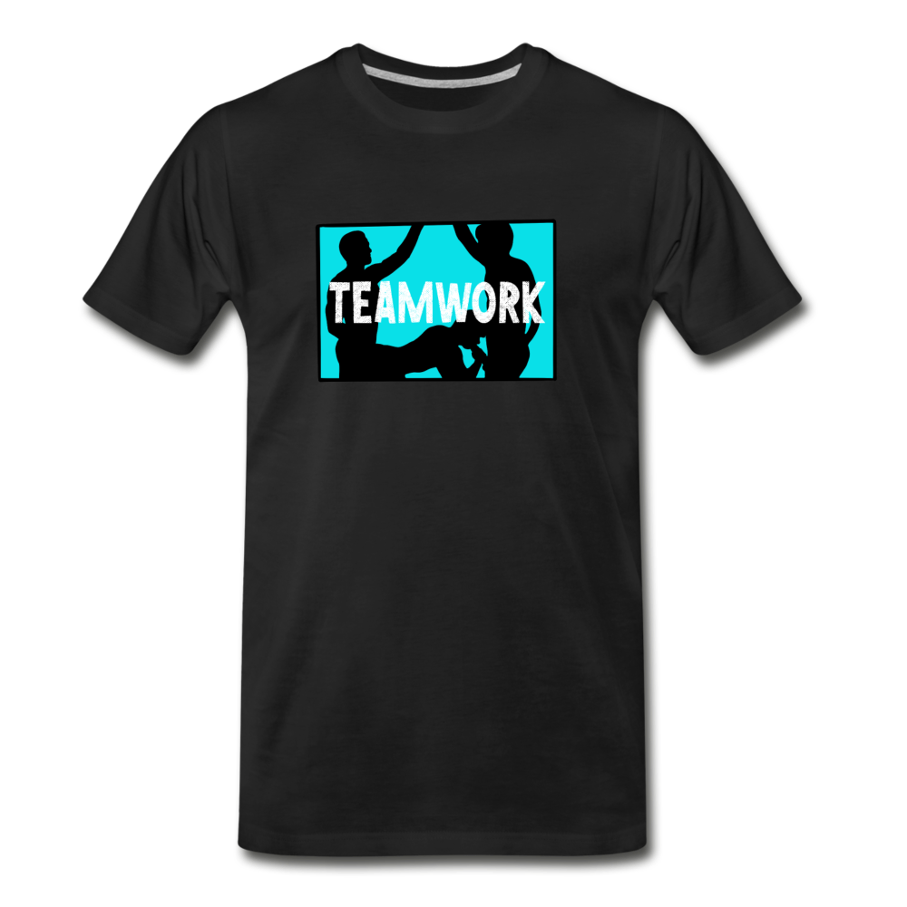 Teamwork NSFW Naughty Gay Shirt - black