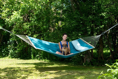 American Dream Petrol Hammock with Removable Pillow