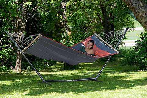 American Dream Grey Hammock with Detachable Cushion