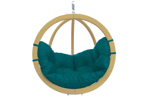 Wooden Globe Chair Hammock Green