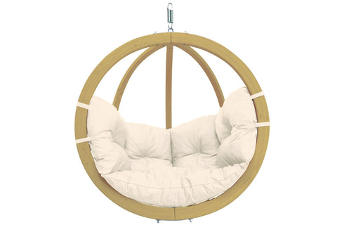 Wooden Globe Chair Hammock Natura
