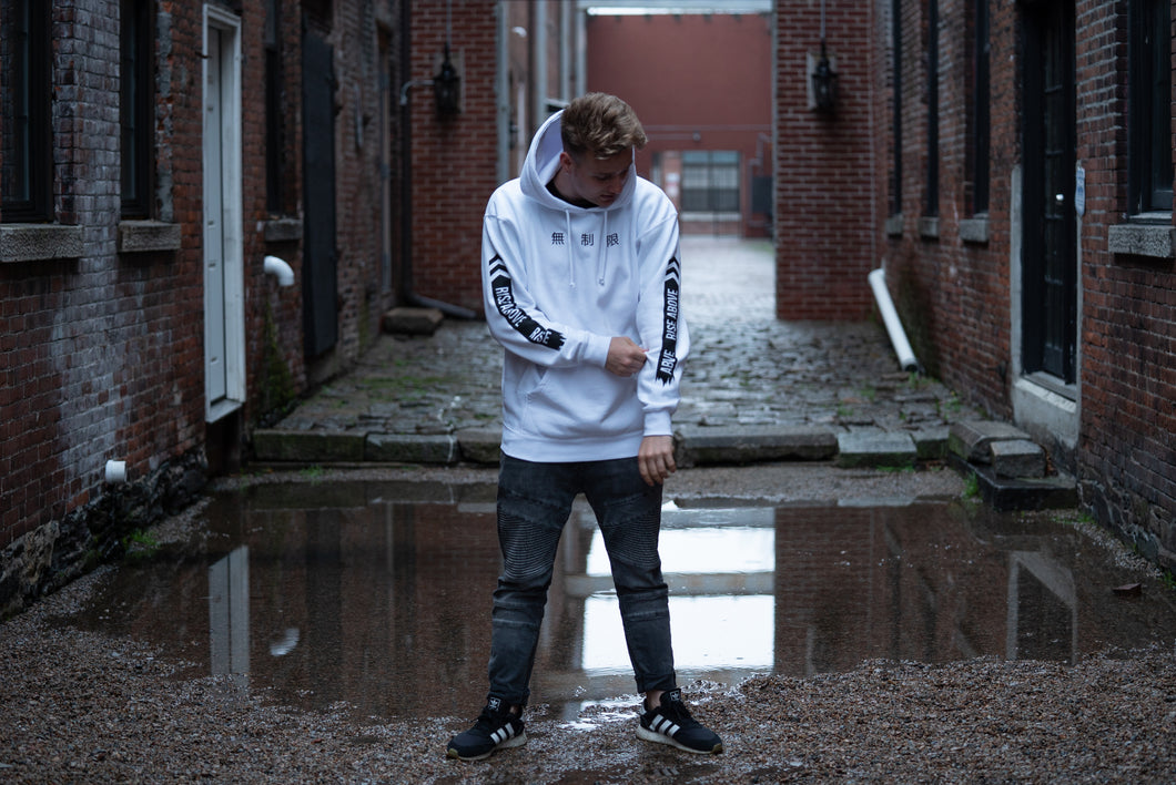 Limitless Hoodie White and Black