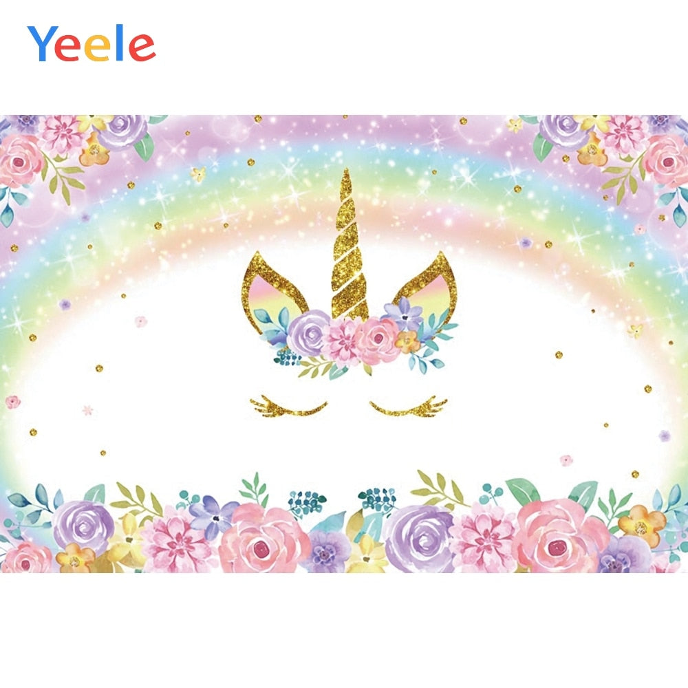 Yeele Unicorn Birthday Photocall Bedroom Decor Child Photography Backdrop Personalized Photographic Backgrounds For Photo Studio