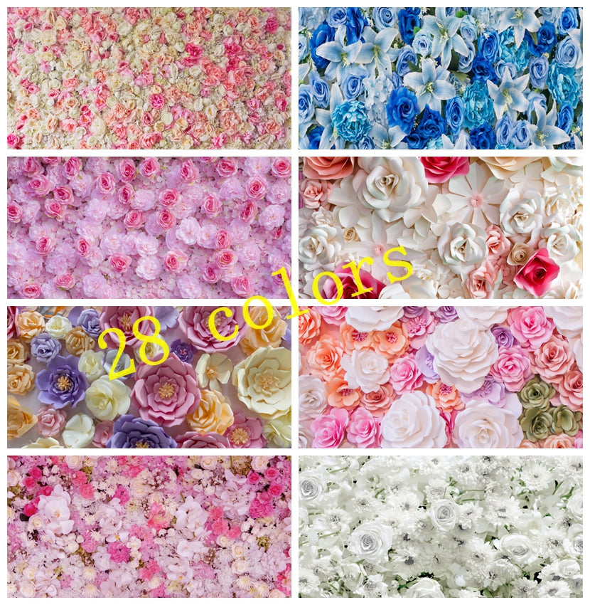 Laeacco Wedding Backdrops Rose Wall Ceremony Baby Birthday Party Love Stage Portrait Photography Backgrounds For Photo Studio