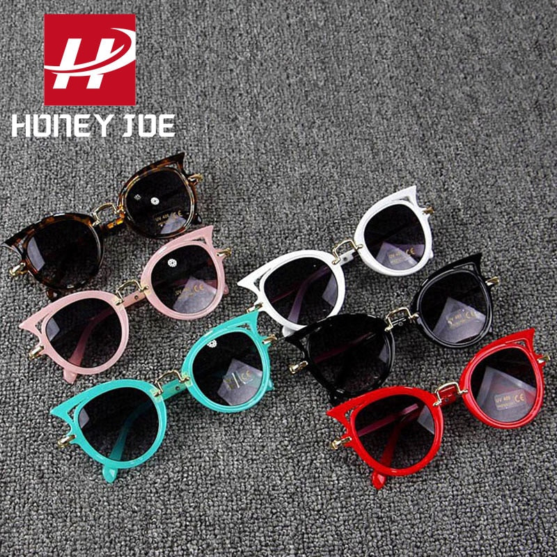 Kids Stylish Cat Eye Sunglasses Cute Shades Eyewear Sun Glasses Party Outdoor Lovely Children Students for Girls Boys Gift UV400