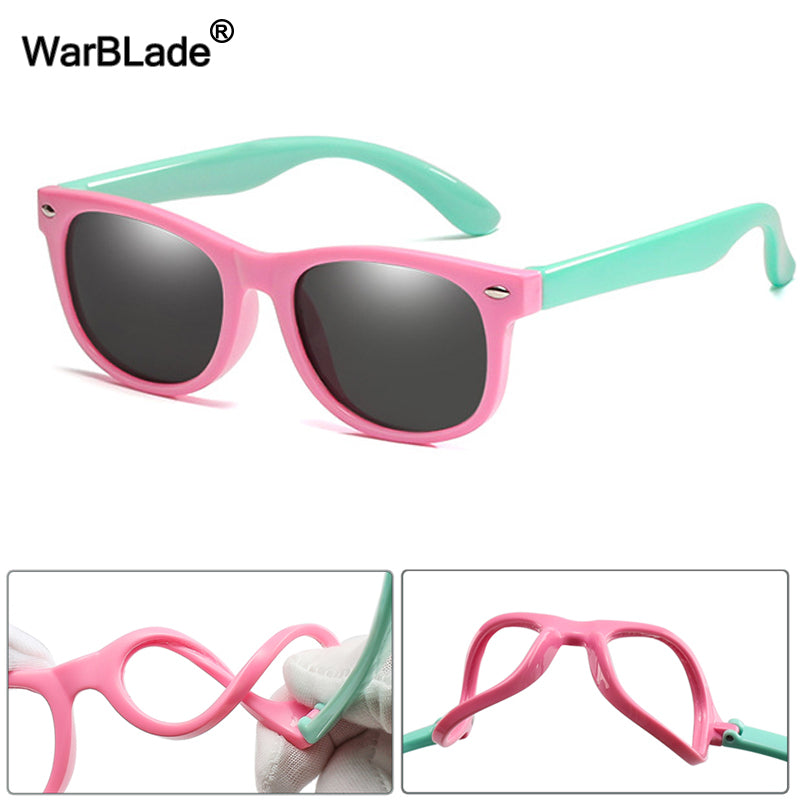 New Kids Polarized Sunglasses Boys Girls Sun Glasses Silicone Safety  Glasses  For Children UV400 Eyewear