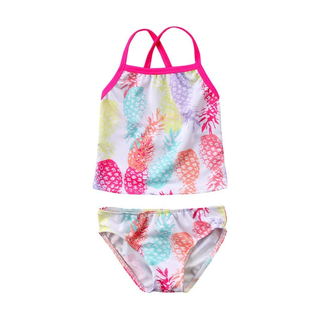 Cute Newborn Baby Girls Swimsuit Princess Flower Butterfly Toddler Kids Swimwear Swimmable Summer Infant Swimming Costume