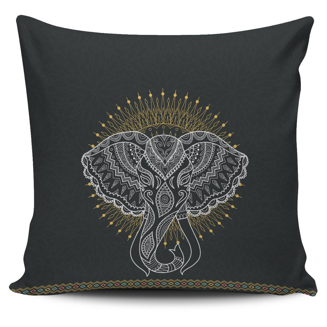 Elephant Abstract Pillow Cover