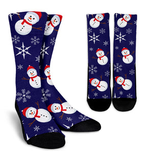 Christmas Blue Good Vibes Only Crew Socks