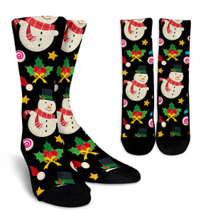 Christmas Lovely Good Vibes Only Crew Socks