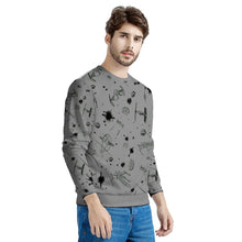 Load image into Gallery viewer, Dark Silver Star Wars Sweater