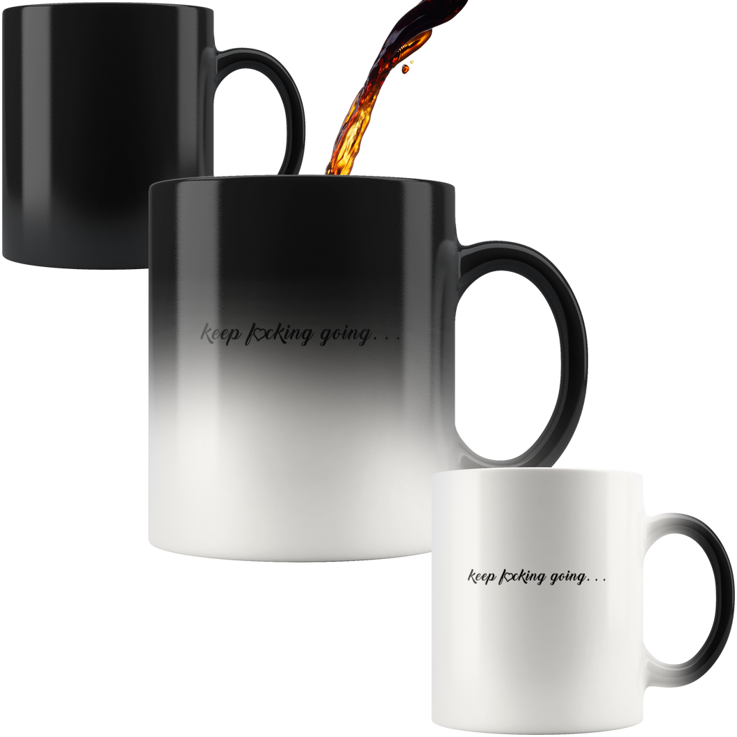Inspirational Keep Going Magic Mug + Free Matching Bracelet Gift for Her