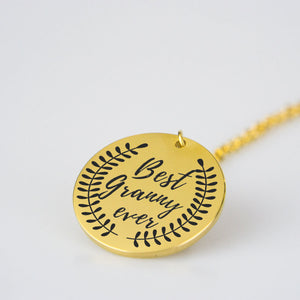 Best Granny Ever charm necklace