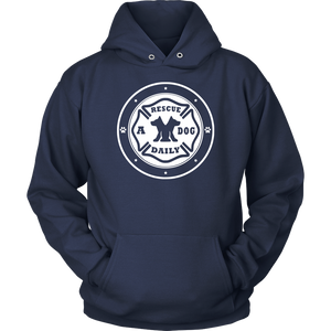"Men Women & Youth ""Rescue A Dog Daily"" Awareness Hoodie"
