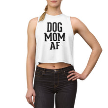 Load image into Gallery viewer, Dog Mom AF Women's Crop top White