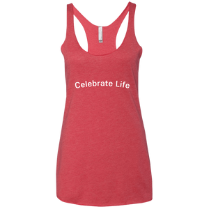 Celebrate Life Next Level Ladies' Triblend Racerback Tank