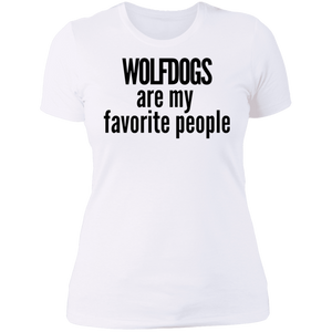 Wolfdogs are my favorite people T-Shirt black writing