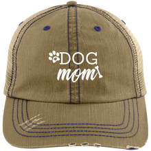 Load image into Gallery viewer, Dog Mom Distressed Unstructured Trucker Cap