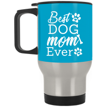 Load image into Gallery viewer, Best Mom Ever Silver Stainless Travel Mug + Free Paw Necklace