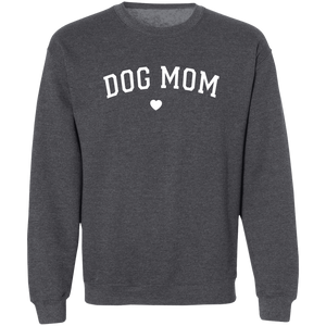 Dog Mom Sweatshirt Crewneck + Cute Womens Free Women's Paw Necklace - Comfortable Woman's Sweater - Winter Clothing Gift for Her