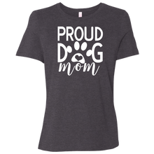 Load image into Gallery viewer, Proud Dog Mom Canvas Ladies' Relaxed Jersey Short-Sleeve T-Shirt