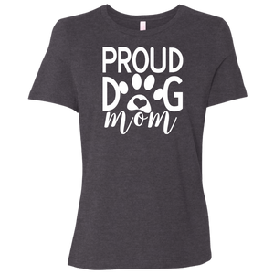 Proud Dog Mom Canvas Ladies' Relaxed Jersey Short-Sleeve T-Shirt