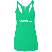 Load image into Gallery viewer, Celebrate Life Next Level Ladies' Triblend Racerback Tank