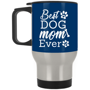Best Mom Ever Silver Stainless Travel Mug + Free Paw Necklace
