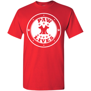 "Men Women & Youth ""Paw Lives"" Dog Rescue Awareness T-Shirt"