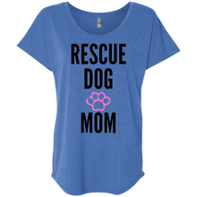 Load image into Gallery viewer, Rescue Dog Mom Next Level Ladies' Triblend Dolman Sleeve