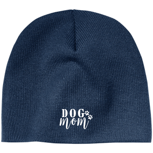 Dog Mom Embroidery Beanie