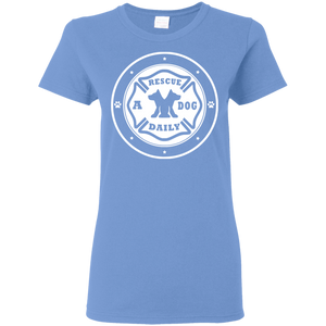 "Men Women & Youth ""Rescue A Dog Daily"" Animal Awareness T Shirt"