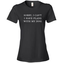 Load image into Gallery viewer, Plans With Dog Anvil Ladies' Lightweight T-Shirt
