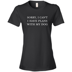 Plans With Dog Anvil Ladies' Lightweight T-Shirt