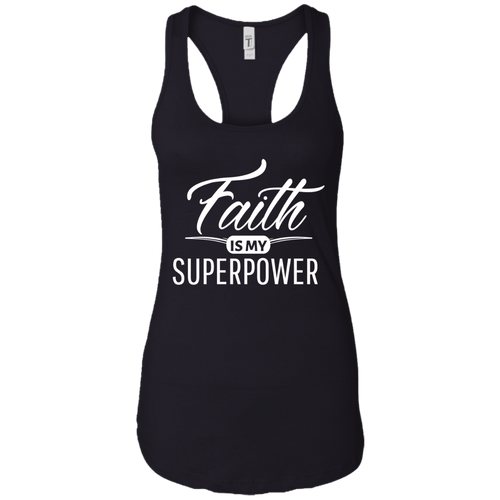Faith Inspirational Ladies Close Fitting Racerback Tank