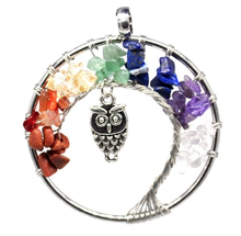 Load image into Gallery viewer, 7 Chakras Tree Of Life Necklace Offer